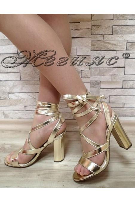 Дамски сандали Jeniffer S1720-65 златен текстил висок ток