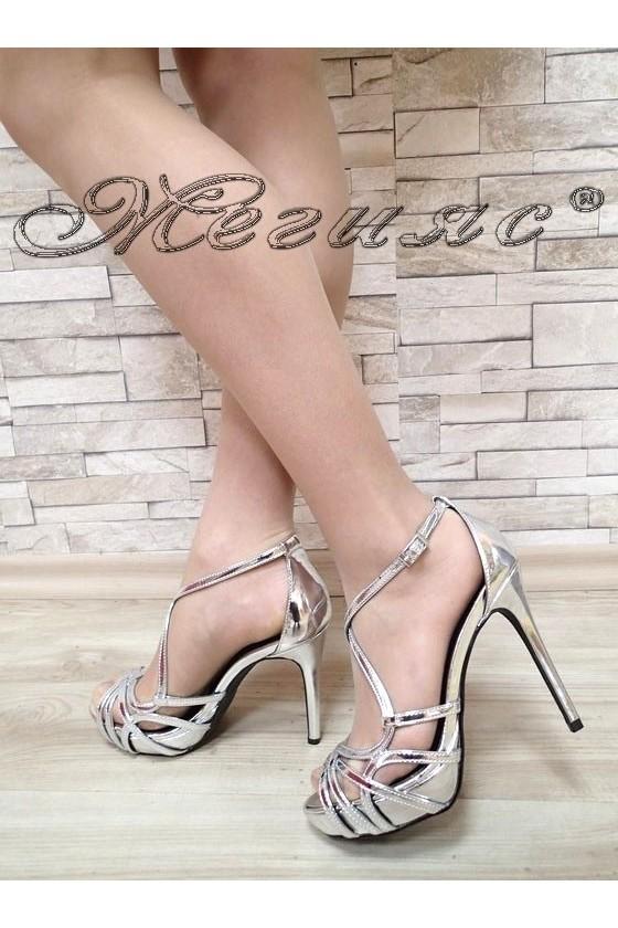 Дамски сандали Jeniffer S1720-64 сребристи елегантни с висок ток