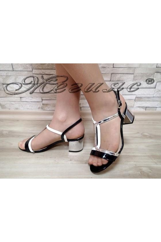 Lady sandals Jeniffer S1720-72 black/silver