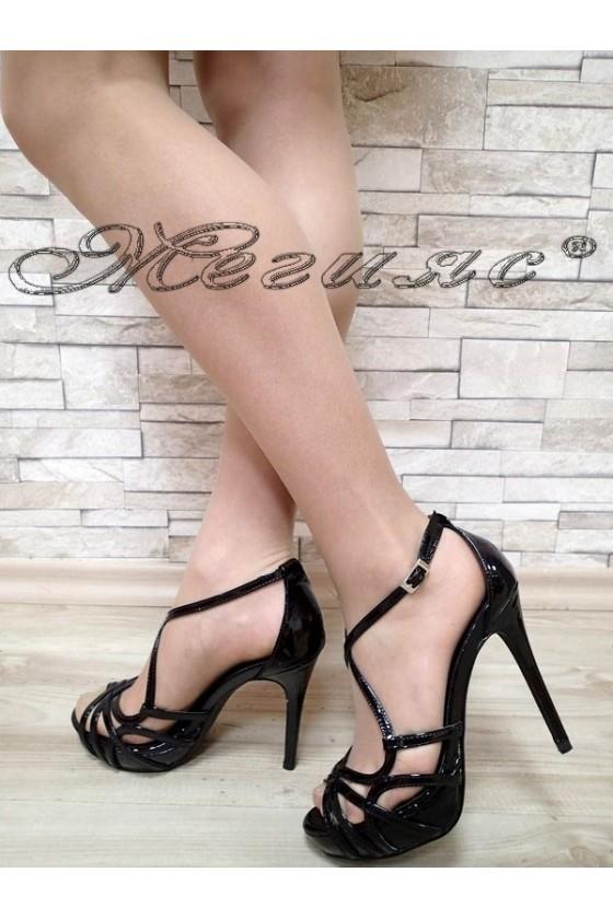 Дамски сандали Jeniffer S1720-64 черни елегантни с висок ток