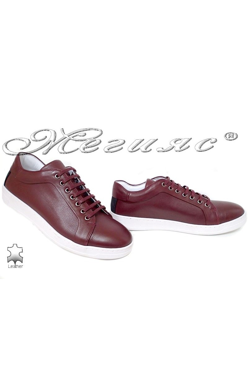 Men's shoes 202 wine leather