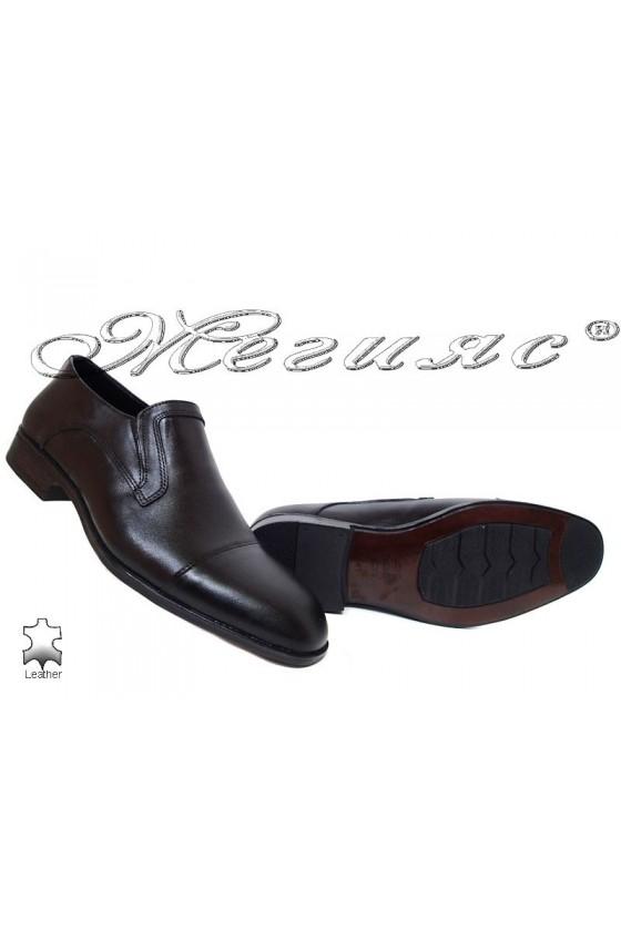 Men's shoes 18103 black leather
