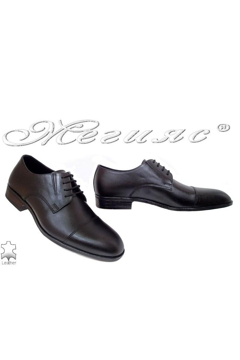 Мъжки обувки Фантазия 18102 мат елегантни черни от естествена кожа