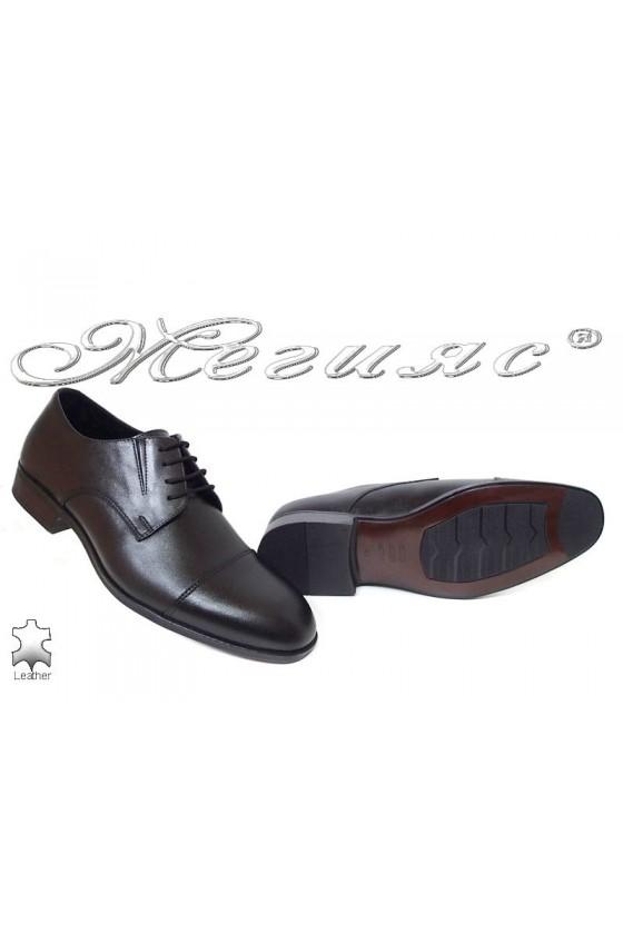 Men's shoes 18102 black leather