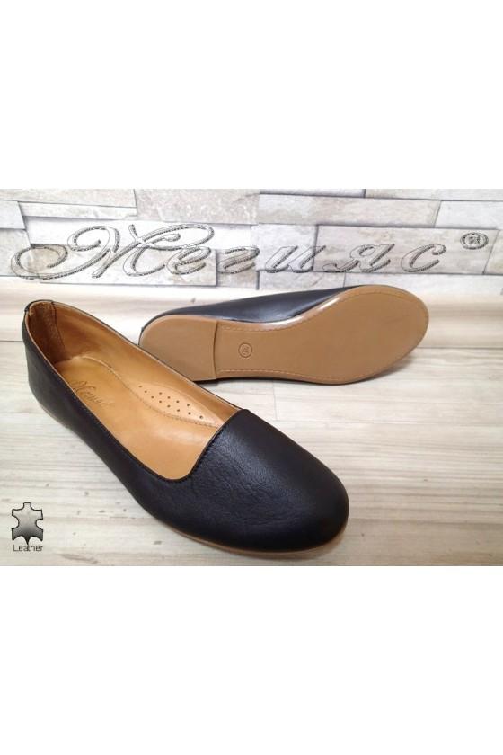 Дамски обувки черни ежедневни естествена кожа 3145
