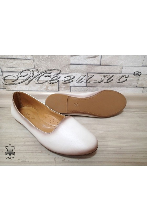 Lady shoes 3145 beige leather