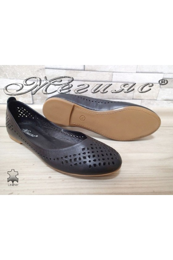 Lady shoes 3147 black  leather