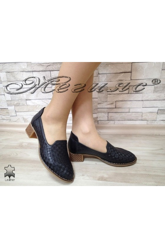 Lady shoes 3011 black leather