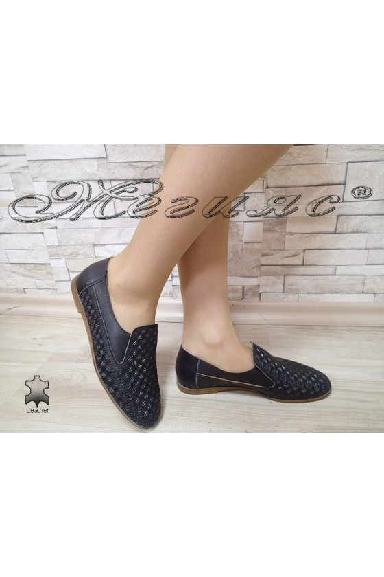 Lady shoes 3029 black leather