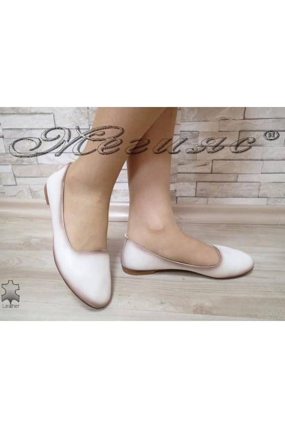 Дамски обувки 3145 XXL ГИГАНТ бежови ежедневни естествена кожа