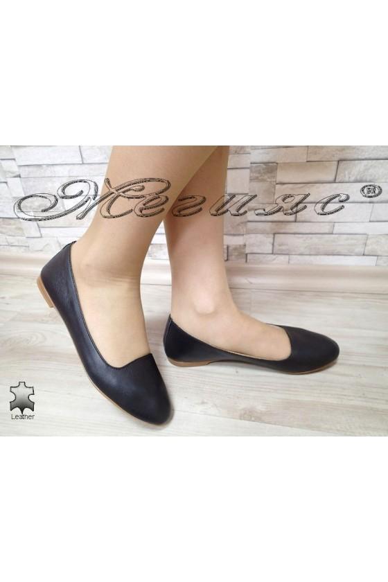 Дамски обувки 3145 XXL ГИГАНТ черни ежедневни естествена кожа