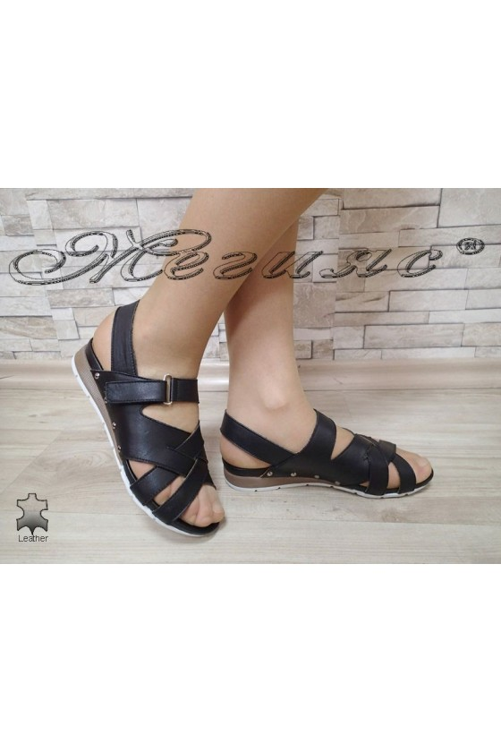 Lady sandals 3032 black leather