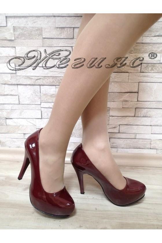 Ladies elegant shoes 500 bordo patent