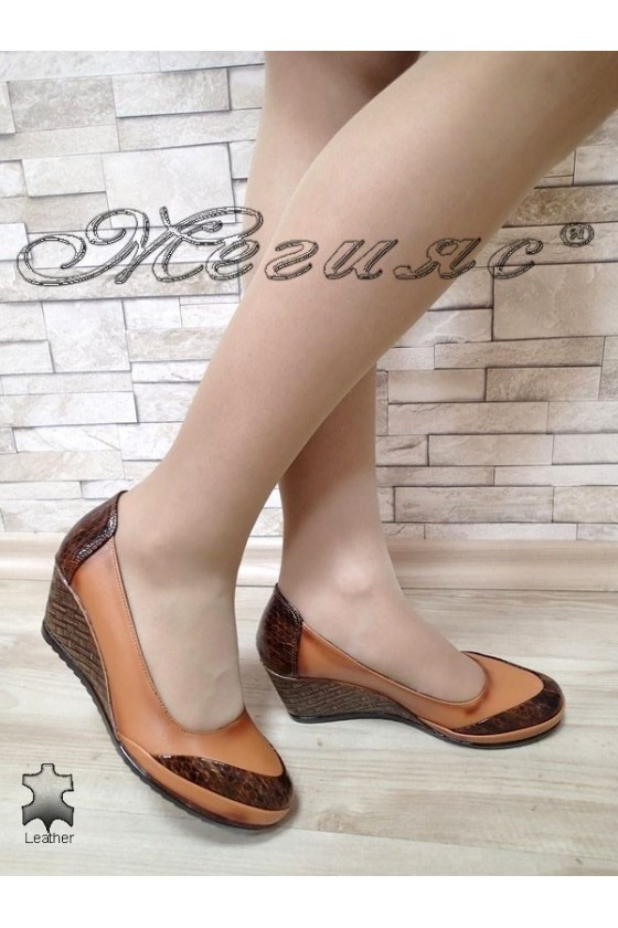 Lady shoes 406/62 brown leather