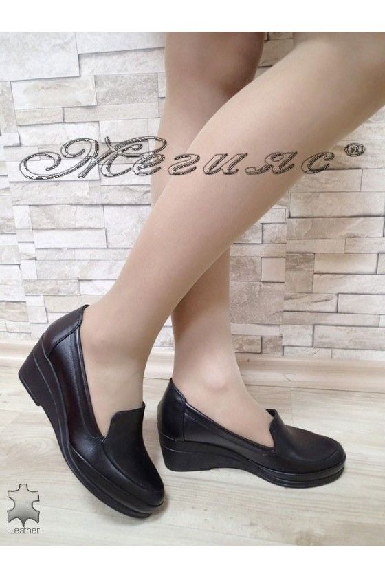 Lady shoes 400-1 black leather