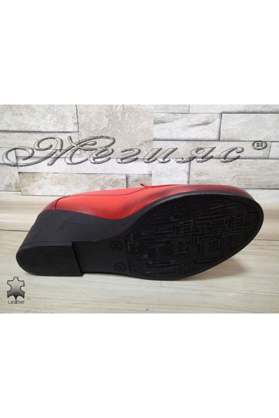 Lady shoes 400-8 red leather