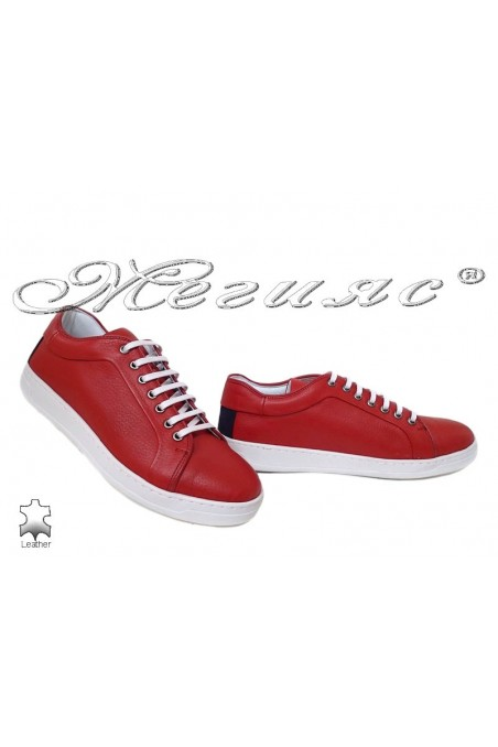 Men shoes 202 red leather