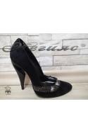 Lady elegant shoes 2328-3617 black suede