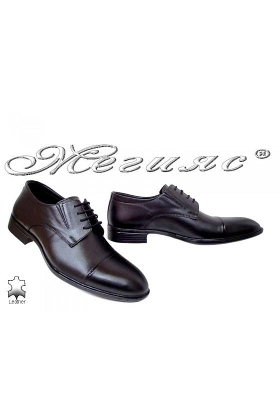 Мъжки обувки Фантазия 17509 черни от естествена кожа