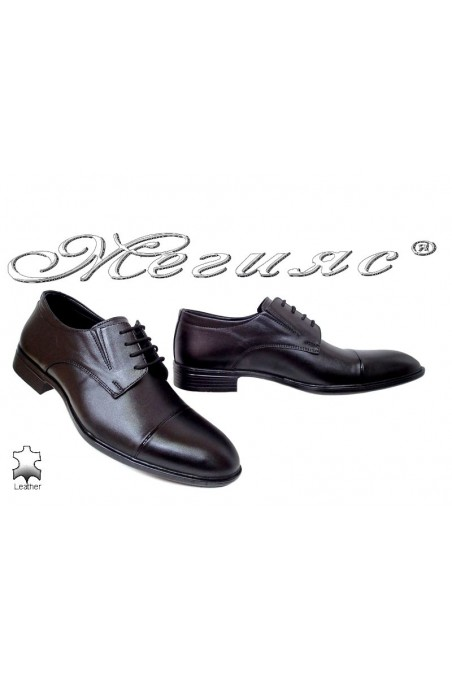 Men shoes 17509 black leather