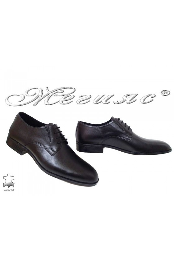 Men shoes 18105 black leather