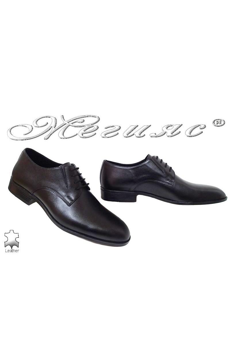 Men shoes 18105 black leather