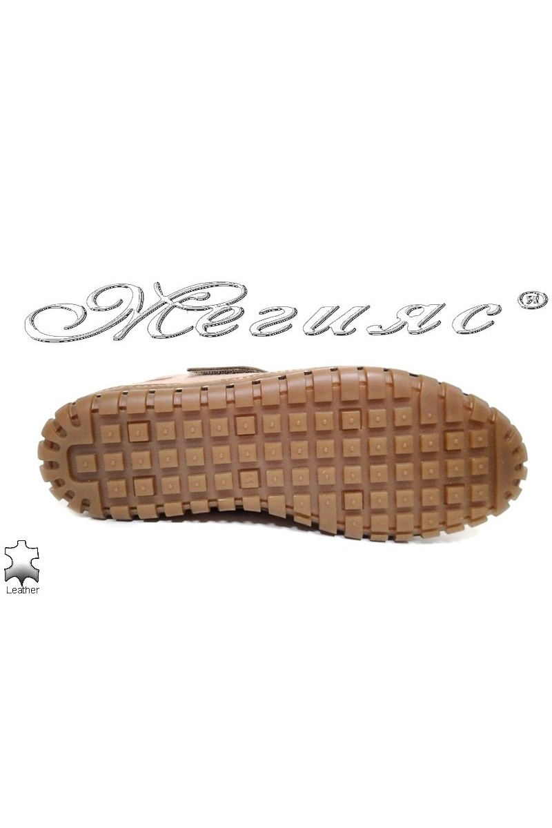Men shoes Puffy 732 beige leather
