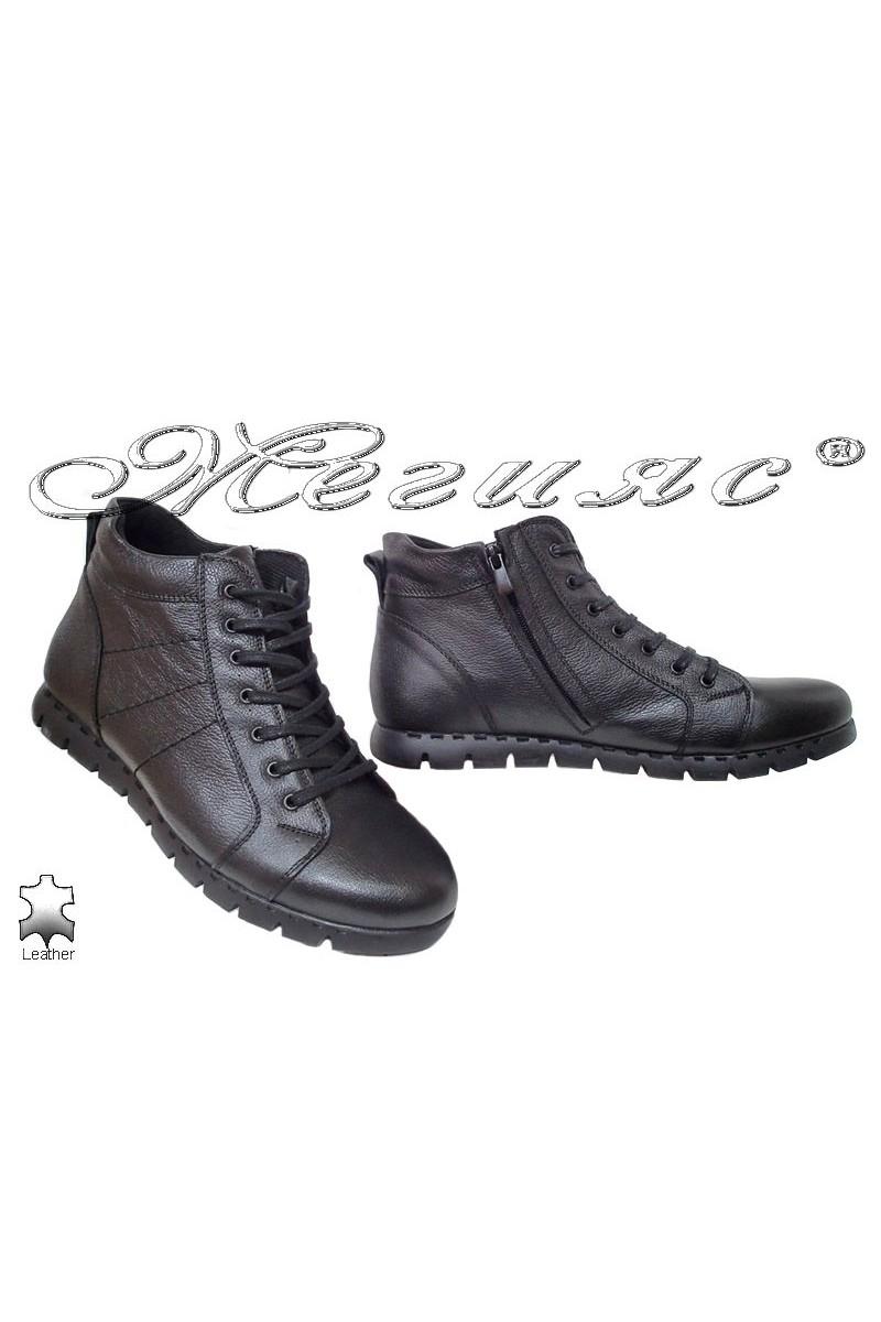 Men's boots MET black leather