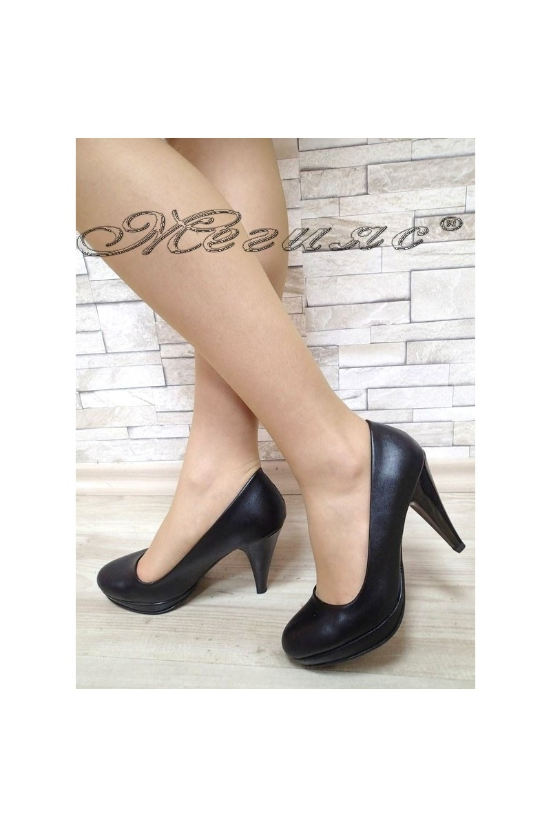 Lady elegant shoes 510 black pu