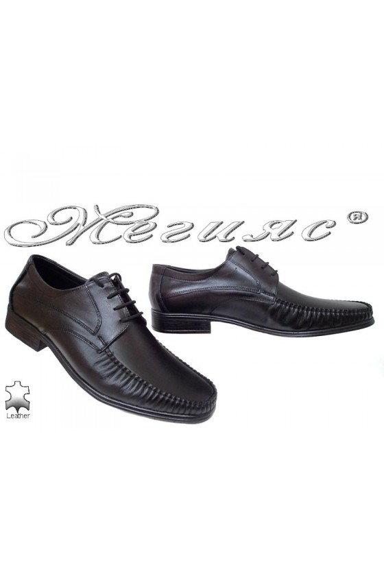 Men's elegant shoes 07 black leather