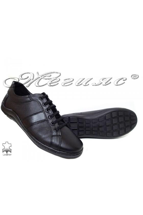 Men's sport shoes 44 black leather