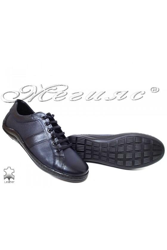 Men's sport shoes 44 dark blue leather