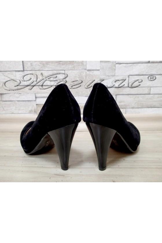 Lady elegant shoes 510 black suede