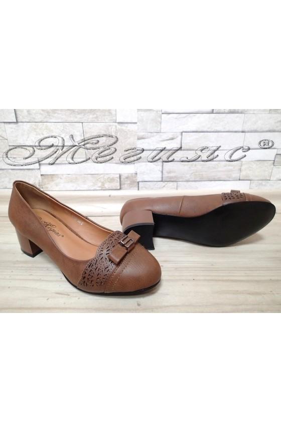 Lady shoes Carol 1720-109-2 brown pu