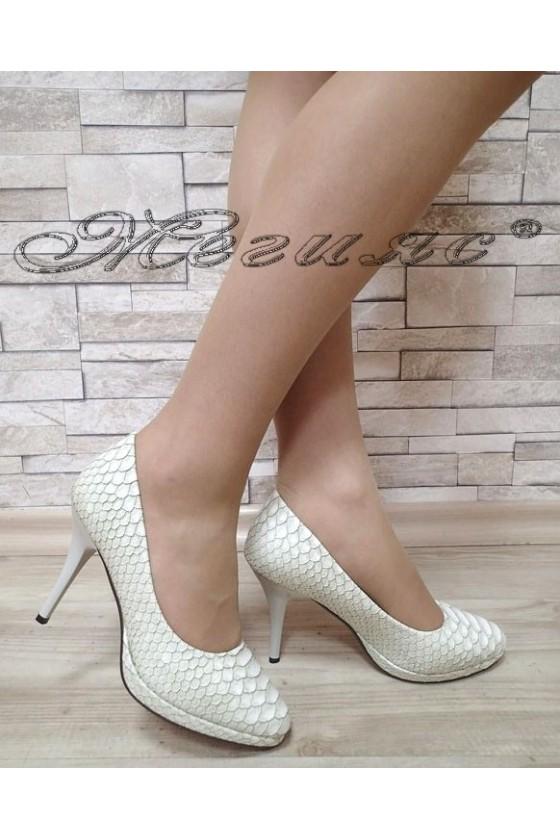 Дамски обувки бели елегантни еко кожа S1720-201