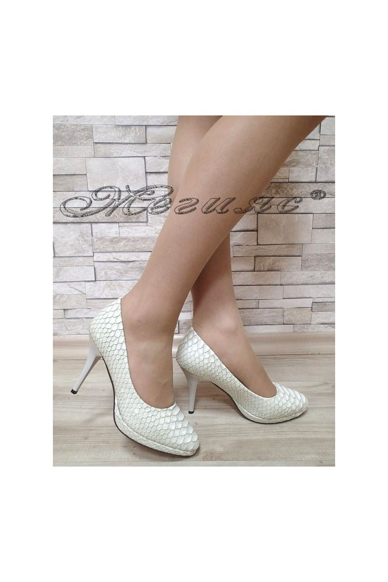 Lady elegant shoes Stella 1720-201 white