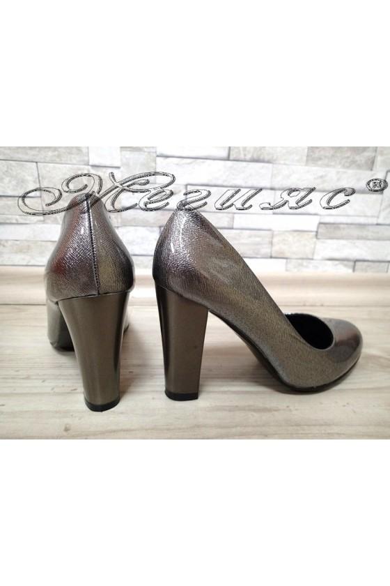 Women elegant shoes  S1720-122-1 grey pu