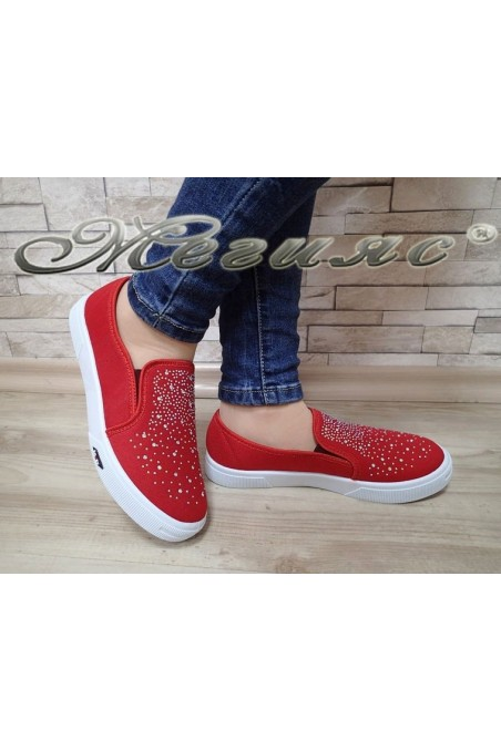 Women sport shoes 1213 red