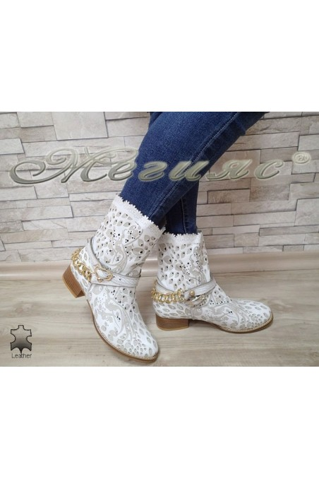 Women summer boots 2010 white leather