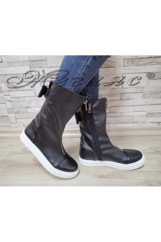 Lady boots 62 black pu