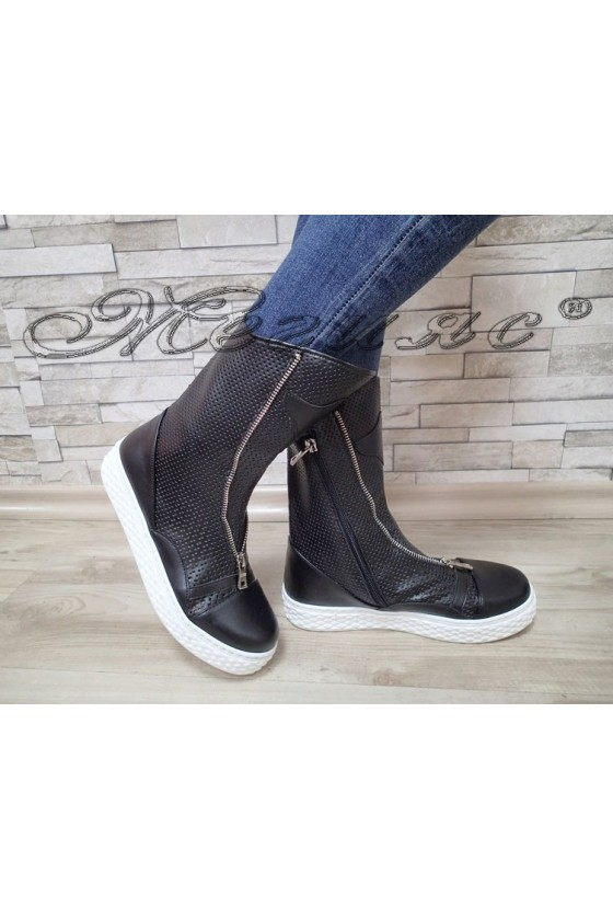 Lady boots 61 black pu