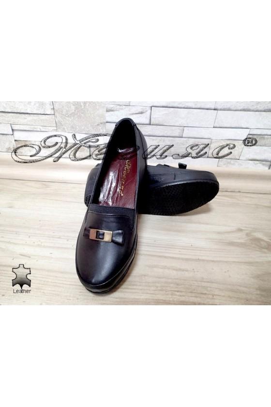 Women platform shoes 2000 black leather