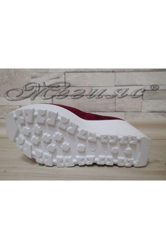 Lady platform shoes 25-K wine