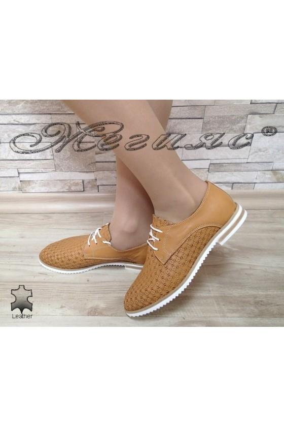 Дамски обувки 3112 таба от естествена кожа