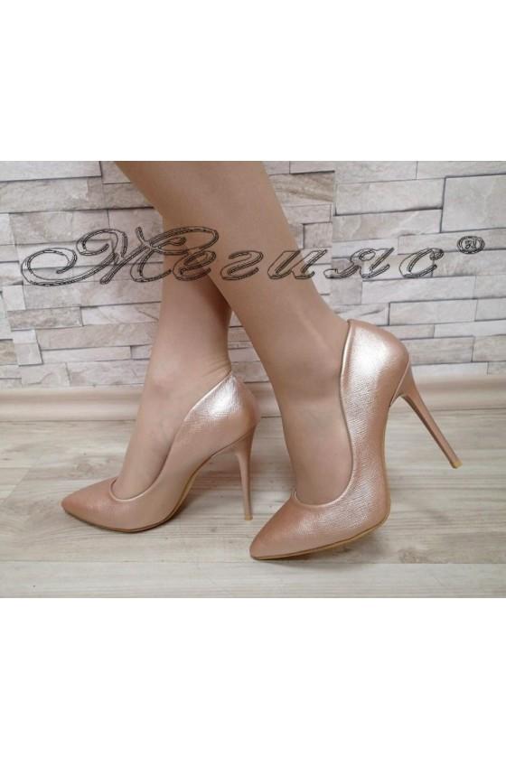 Lady elegant  shoes 1800 dk.gold high heel pu