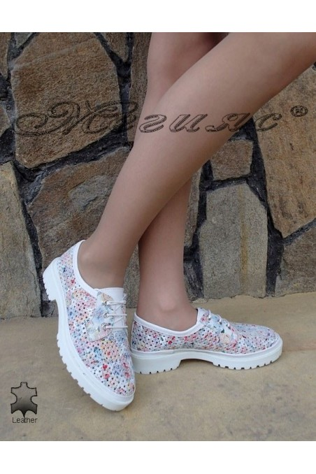 Lady sport shoes 010 white leather
