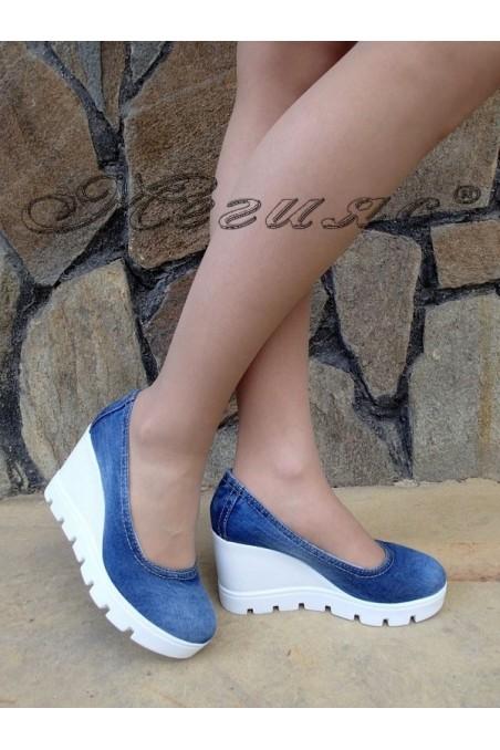 Lady platform shoes 275-1 jeans