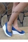 Дамски обувки 275-1 дънкови с платформа