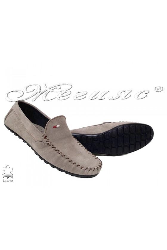 Men's shoes 02 beige leather