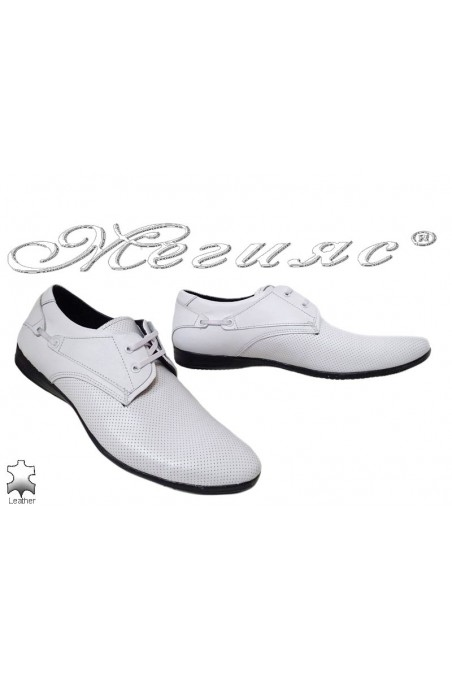 Men's shoes 432 white leather